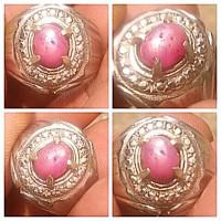 Cincin Batu Permata Natural Star Ruby Burma Bukan Africa Original