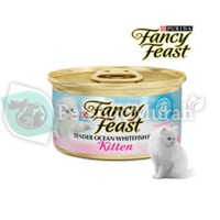 Makanan Kucing Kitten Basah Fancy Feast Tender Ocean Whitefish Feast85