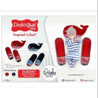 Dialogue Baby Bantal Set Peang + Guling Bayi Whales Series DLB-3347