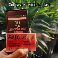 Tempered glass plus softcase case blackmatte sony xperia z5 compact