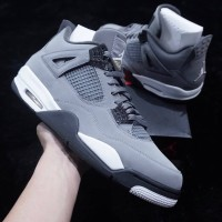 SEPATU NIKE AIR JORDAN 4 RETRO COOL GREY PREMIUM ORIGINAL