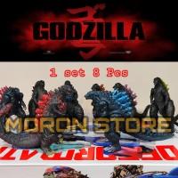 Godzilla Gojirra Figure set 6 Pcs Magma 1985 Dll Loose pack