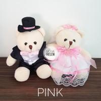 Boneka Teddy Pengantin Wedding/Boneka Couple/Beruang Pasangan 20cm