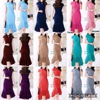 (xL) Dress Mermaid Sophia lace dress Polos Dress Basic Dress Pesta