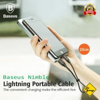 Kabel Data Charger PowerBank Pendek Baseus Lightning Fast Charging
