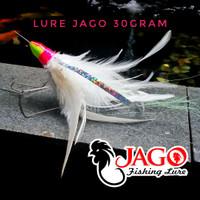 Lure Jig Head Metal Jig bulu ayam JAGO Tenggiri Killer 30gram