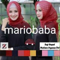 Mariobaba AA759- A Hijab jilbab segiempat MUTIARA organza dot