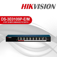JUAL HIKVISION DS-3E0109P-E/M POE SWITCH HUB 8 PORT 1 UPLINK