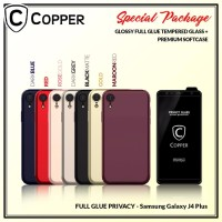 Samsung Galaxy j4+ -Paket Bundling Tempered Glass Privacy Dan Softcase