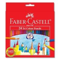 Faber Castell Colour Pencils Tri Grip Pensil Warna Triangular Isi 24