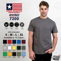 Kaos Polos NSA Premium Cotton 7200 Tshirt New States Apparel Original