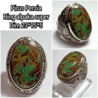 cincin natural batu akik permata pirus persia 23155