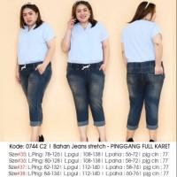 0744 C2 celana jeans stretch BIGSIZE BIG SIZE JUMBO BESAR MURAH