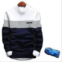 BL32 Sweater Rajut Pria Zico Sweater Navy
