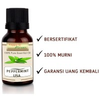 Happy Green USA Peppermint Essential Oil 10 ml- Peppermint Origin USA