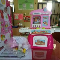 Mainan anak cook happy kitchen oven play set masak nyala suara dapur