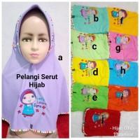 Jilbab Anak Kaos Harian Pelangi Serut Hijab