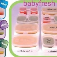 petite baby cubes 4 x 140ml wadah mpasi merk baby cube, babycubes -