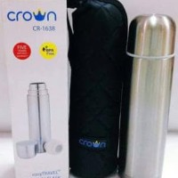 CROWN Thermos / Termos Air Panas / Dingin 500 ml easyTravel Vacuum