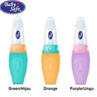 Baby Safe Bottle Spoon Soft Squeeze Feeder Botol sendok makan bayi -