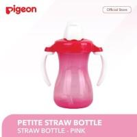 PIGEON Petite Straw Bottle Pink / Cangkir Minum Bayi