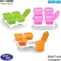 Baby Safe Multi Food Container BabySafe Wadah Penyimpanan Makanan Bayi
