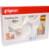 Pigeon Feeding Set Large - Peralatan tempat makan minum bayi