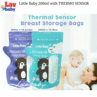 200ml - Little baby Kantong ASI 200ml breastmilk storage THERMO SENSOR