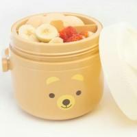 Set Baby Value Pack Set Bear Set Peralatan Tempat Makan Bayi Coklat
