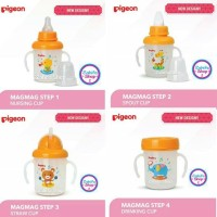 Pigeon Mag Mag Step 1 2 3 4 Training Cup Magmag Nipple Spout Straw Lid