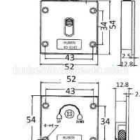 Roda Pintu Lemari Sliding / Geser Sd 3141 Huben