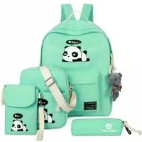TERMURAH Tas Sekolah Anak Perempuan 4 in 1 Backpack Slingbag Pouch