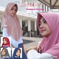 Khimar pet antem jilbab simple kerudung pet hijab instant wolfis terl