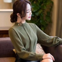 HERSTYLE Office Look Korean Top Harina Blouse Atasan M L XL Jumbo Size
