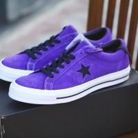ORIGINAL Converse One Star Ox Purple White Sepatu Pria BNIB