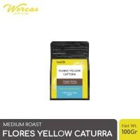 WORCAS Arabica Flores Yellow Caturra 100 Gram - Medium Roasted Coffee