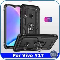 Casing Vivo Y17 Y 17 Kickstand Built-in 360 Shockproof Hard Case Cover