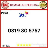 Nomor Cantik XL 10 Digit seri abab 5757 0819 80 5757 ps02r9