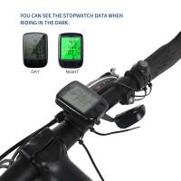 SunDING ORIGINAL Speedometer Sepeda Backlight LCD - SD-563A - Black