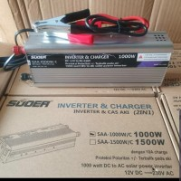 SUOER Inverter 1000w+charger 10A/Cas Aki SAA-1000W/C (Inverter 2 in 1)