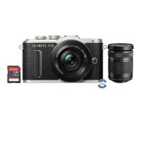 Olympus PEN E-PL8 Kit Lens 14-42mm EZ + Lens 40-150mm R - Black