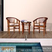 Offo Living - Kursi Taman / Kursi Teras - 1 set - Kayu Jati
