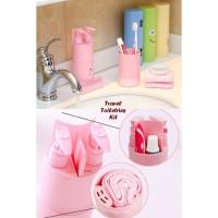 Travel Toiletries Kit tempat peralatan mandi penyimpanan alat mandi