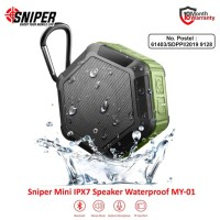 Sniper Mini Bluetooth Waterproof Speaker MY-01 - Green