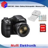 Sony DSC H300 Digital Camera Free Memori 16 GB Battery Rechargeable