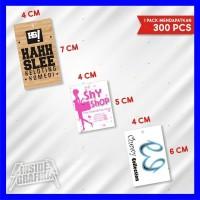 Bikin Hangtag 300 Pcs Cetak Hang Tag Print Label Baju Kertas Price Tag
