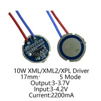 DRIVER LED CREE 10W XML XML2 T6 3-4.2 volt Dc 2200 mA 10 watt 5 mode