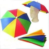 Kepala Payung Payung Topi motif PELANGI RAINBOW multicolour multiwarna