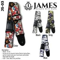 Strap Gitar James JS-03 / Strap Gitar Akustik / Strap Gitar Bass JS-03