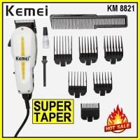 BL363 ORIGINAL KEMEI KM 8821 super taper 6 sepatu alat cukur rambut